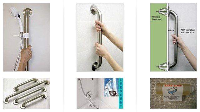 Grab bars bathroom remodel ideas pinterest for 5 bathroom safety tips