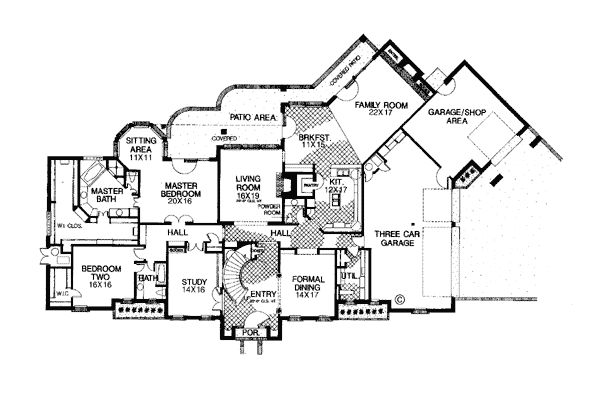 Colonial French Country House Plan 66046