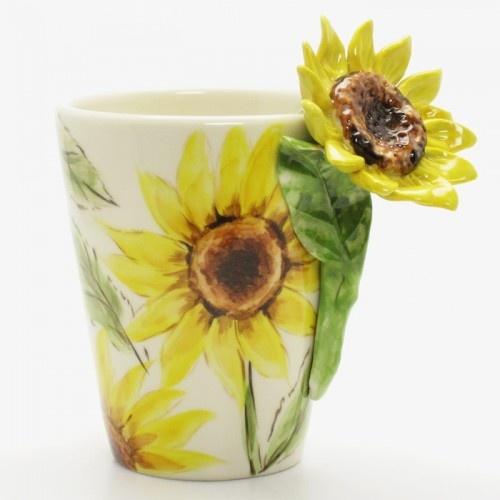 sunflower mug 00001 ceramic 3d handmade collectible home decor 26 sunflower home decor