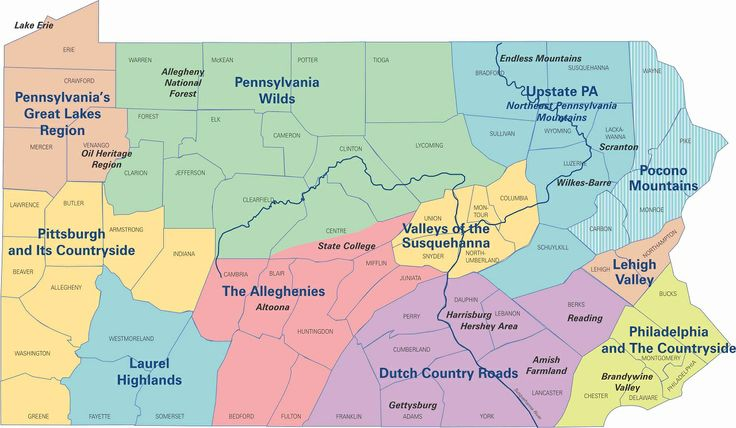 Map Of Pennsylvania  College  Pinterest