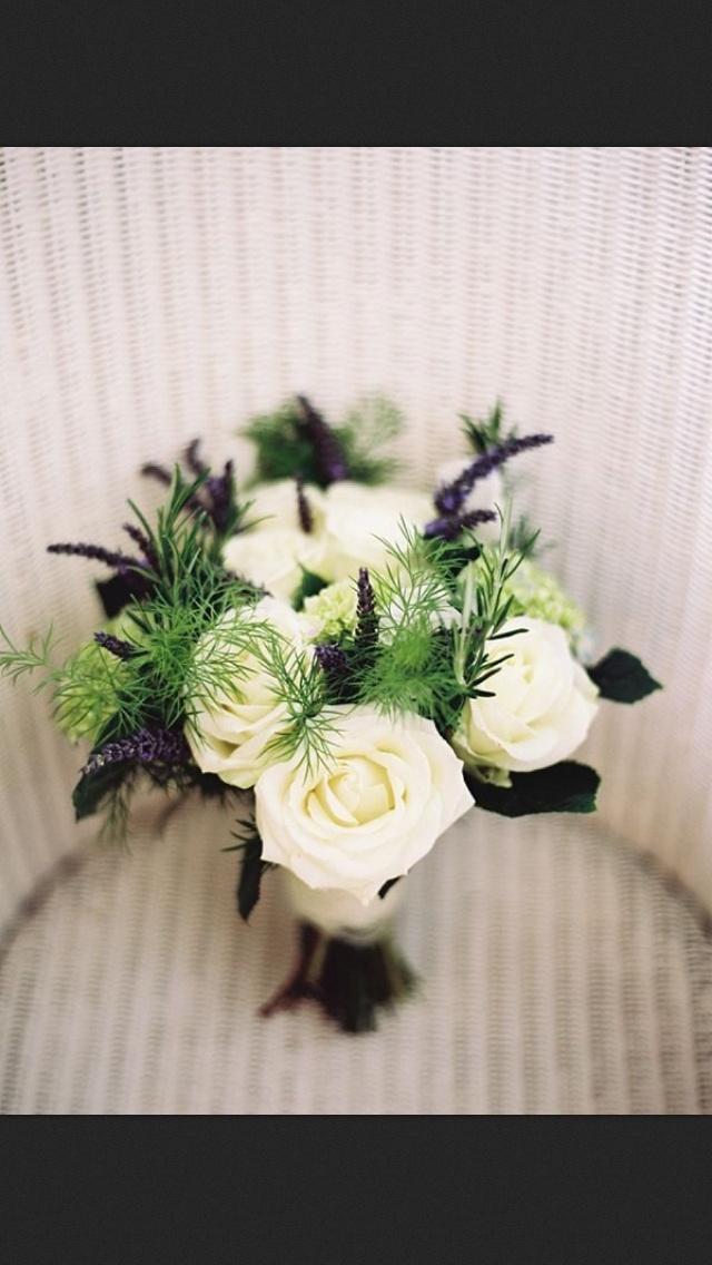 Rose Amp Lavender White Bridal Bouquet