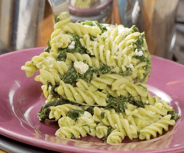 Fusilli with Feta & Lemon-Caper Pesto | Recipe