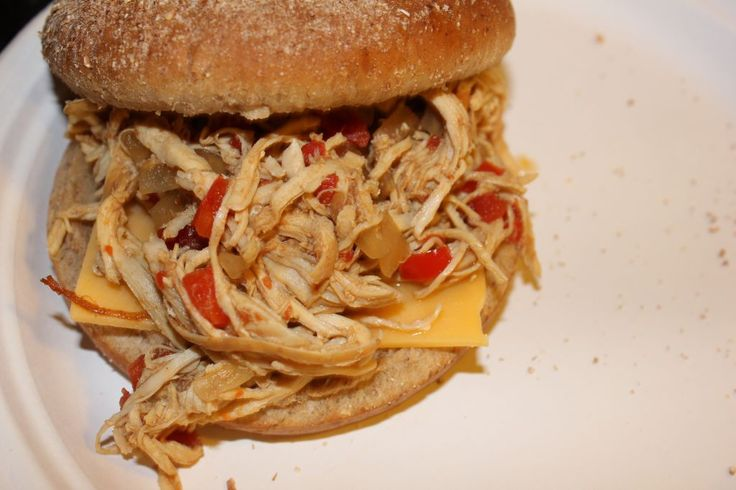 Slow Cooker Sweet and Spicy Buffalo Chicken Sandwiches - i heart ...