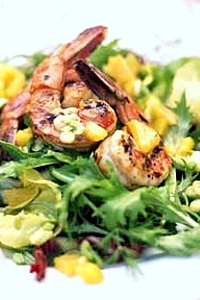 Blackened Shrimp with Pomegranate and Orange Salad