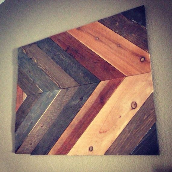 Chevron rustic wall art