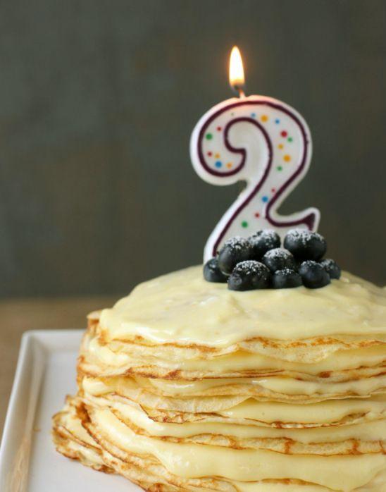 meyer lemon curd crepe cake | Breakfast | Pinterest