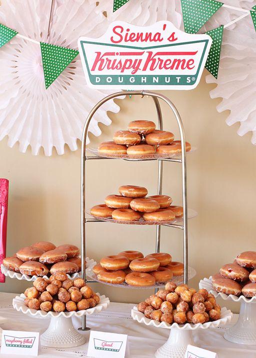 Free Birthday Krispy Kreme ~ Donut party printables friday freebie mr wolfe s