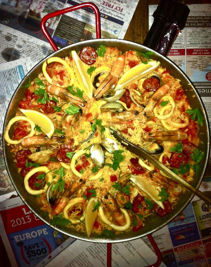 Seafood and chorizo paella | Food & Drinks | Pinterest