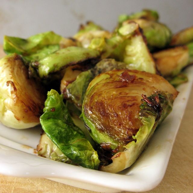 Smoky caramelized Brussels sprouts | Recipes to try | Pinterest