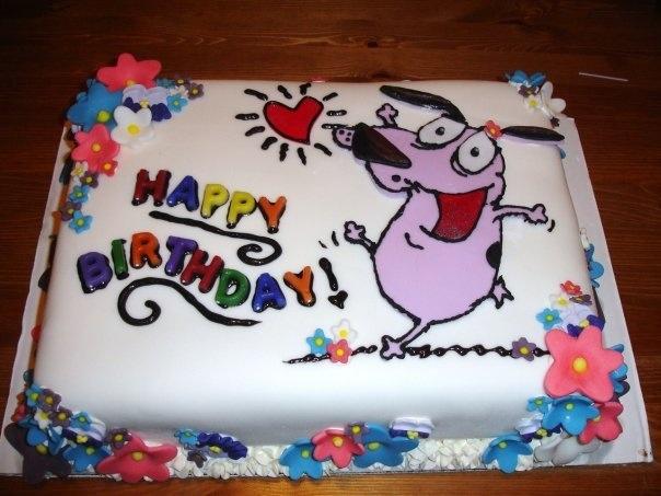 courage the cowardly dog cake