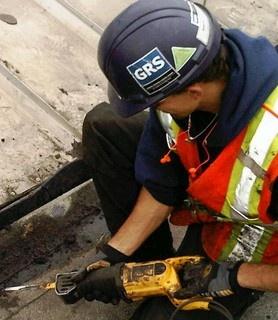 Tar and gravel roof repair