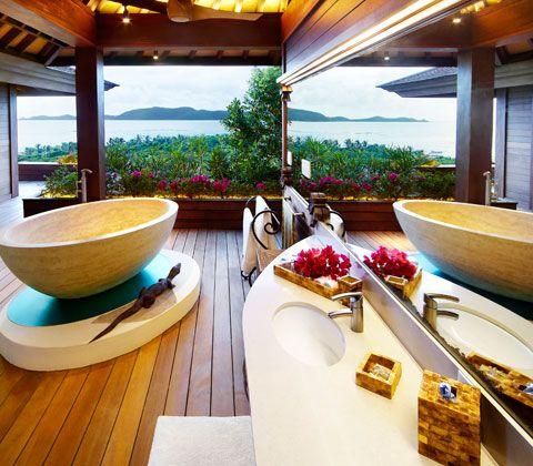 Necker island bathroom