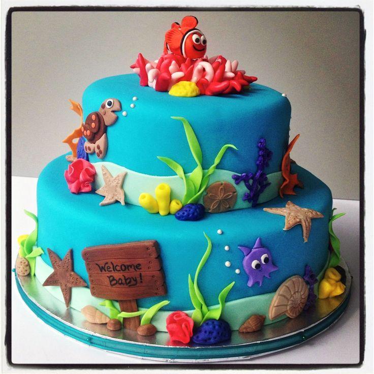 baby nemo shower agbc kids cakes pinterest