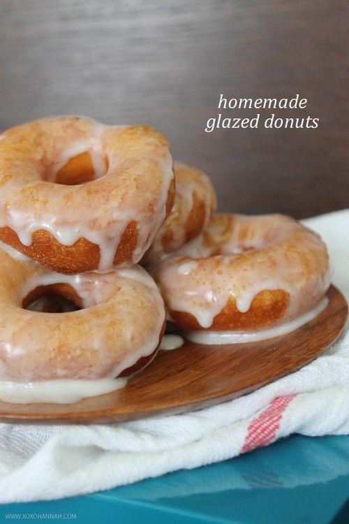 Homemade Glazed Donuts via XOXOHANNAH | Donuts | Pinterest