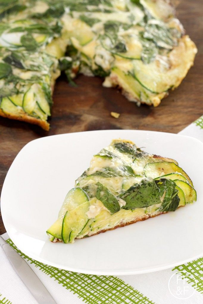 zucchini frittata | Recipes - No Meat | Pinterest