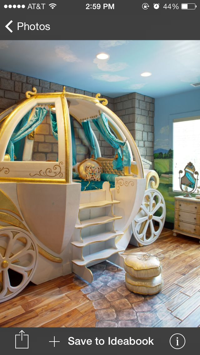 Cinderella carriage bed. I think this has to be Chloes next bed!!