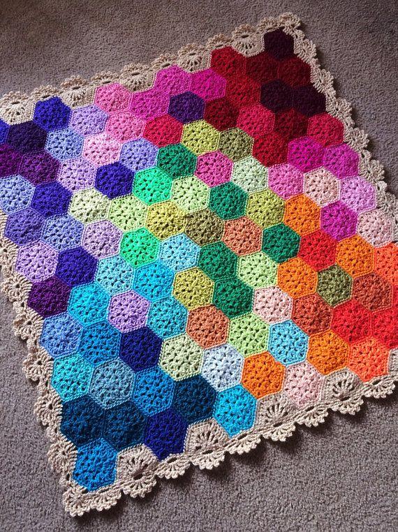 Geometric Crochet Afghan Pattern : BabyLove Brand Geometric Lace Blanket/Afghan, handmade ...