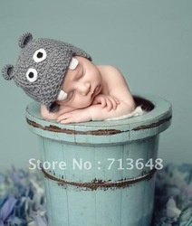 mobile site-cute hippo baby hat handmade crochet photography props baby hat