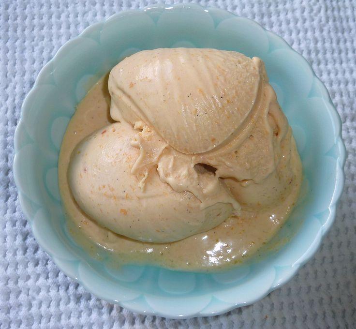 Fresh Peach and Vanilla Bean Custard Ice Cream   Recipe