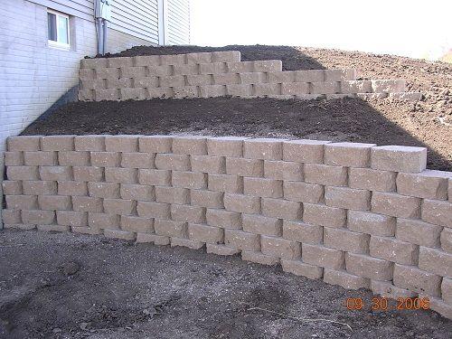 backyard retaining wall idea retaining wall ideas pinterest
