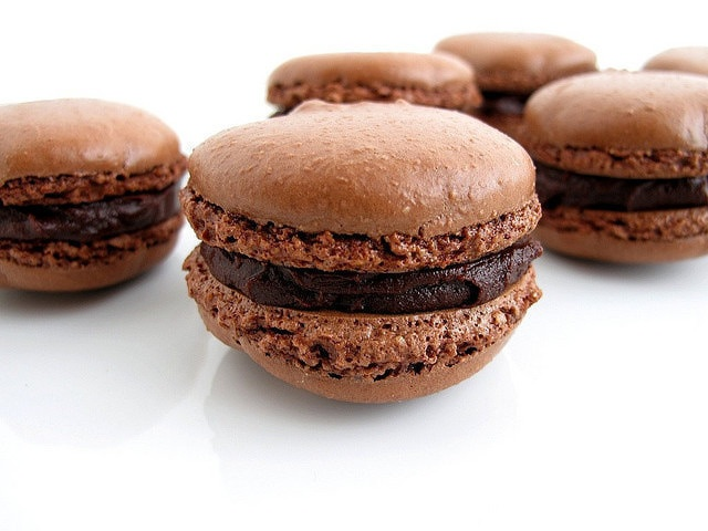 Chocolate Macarons with Ganache Filling | Sweet Tooth | Pinterest