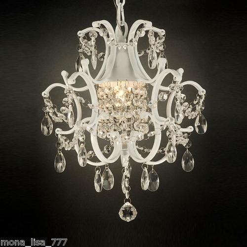 new mini crystal chandelier white finish ceiling light foyer living