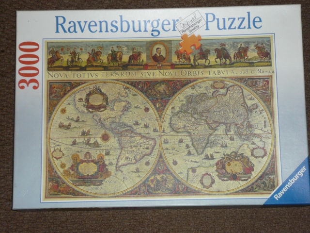 ravensburger jigsaw puzzle 3000 piece world map 1665. Black Bedroom Furniture Sets. Home Design Ideas