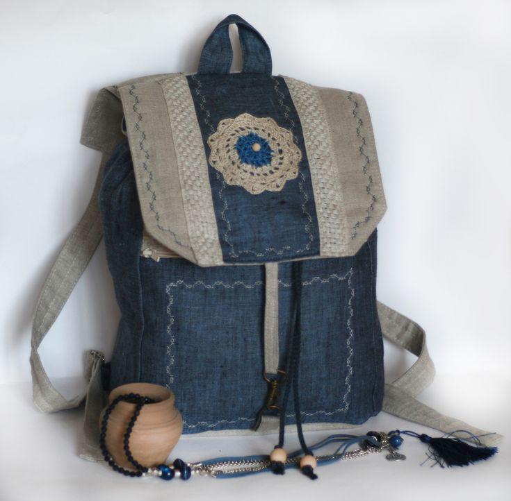 Джинсовые рюкзаки своими руками фото и выкройки из ткани 7