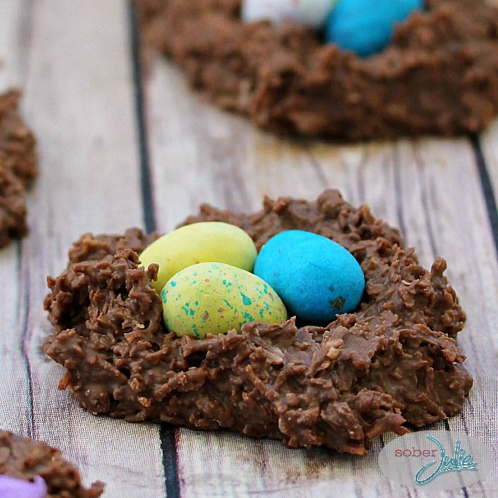 Coconut Easter Nests - A simple, delicious Easter dessert - Sober ...