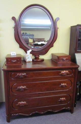Lillian Russell Bedroom Furniture : Davis Furniture Lillian Russel Dresser - Morris Antiques