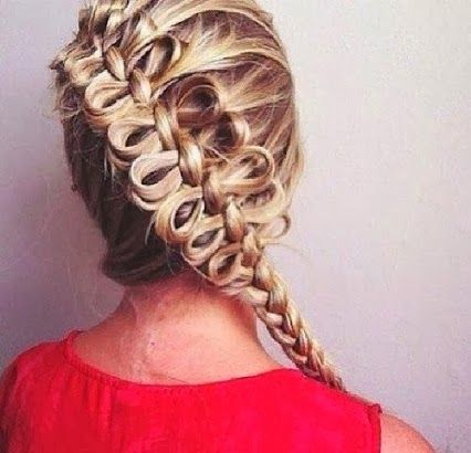 long hair style - I love the bows!!