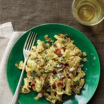 This dish transforms simple ingredients like bacon, eggs, and cheese ...