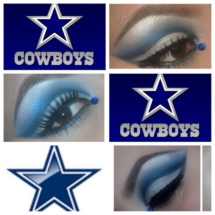Cowboys makeup for your next football party. Any Dallas #Cowboys fans ...