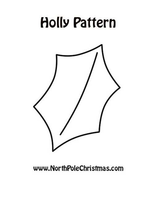 Holly Leaf Pattern | clipart | Pinterest