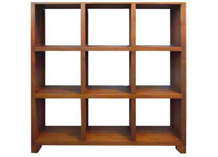 Scanteak 51020 STELLAN 3X3 BOOKCASE Furniture