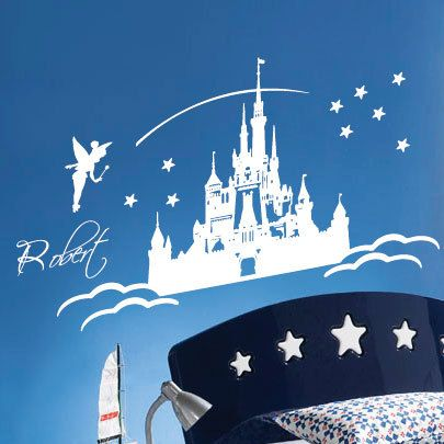 personalised fairy castle wall art wall stickers wall pics photos castle wall decal