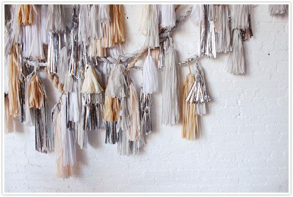 confettisystem confetti system garland tassle fringle metallic tissue paper DIY piñata