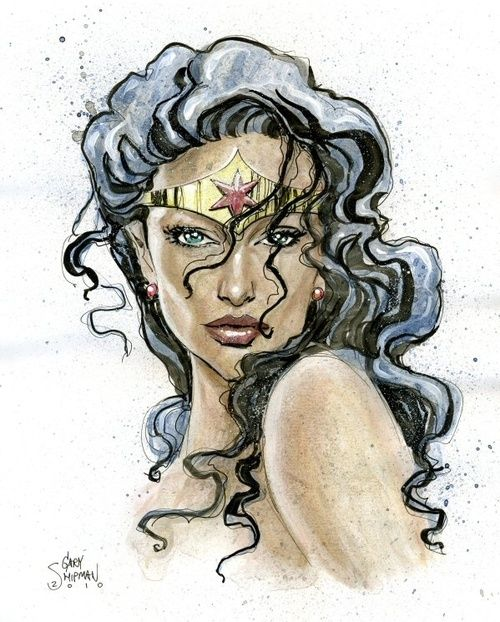 how to draw wonder woman sign
