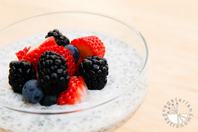 Coconut Chia Pudding with Fresh Fruit (vegan, gluten-free) - Vegetarian Gastronomy