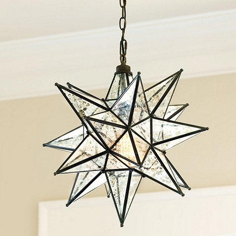 pendant in stairwell moravian star pendant mercury glass 300 19 x19. Black Bedroom Furniture Sets. Home Design Ideas