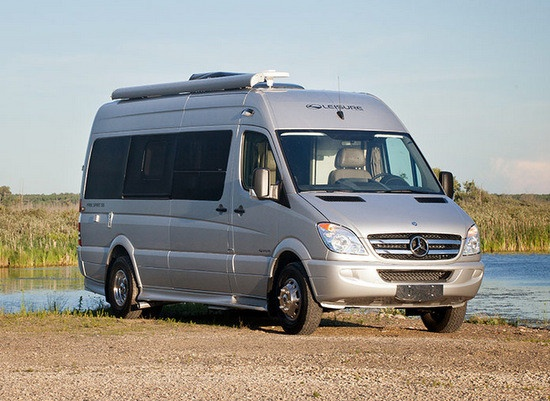 Leisure travel vans to debut mb sprinter class b rv with for Mercedes benz rv class b