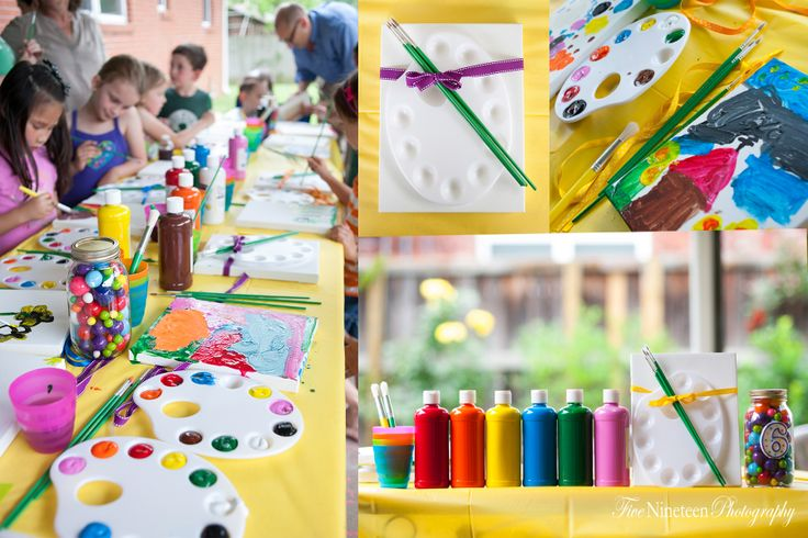 Raleighs Art Themed 6th Birthday Party {Tulsa Event Photography 519 ...