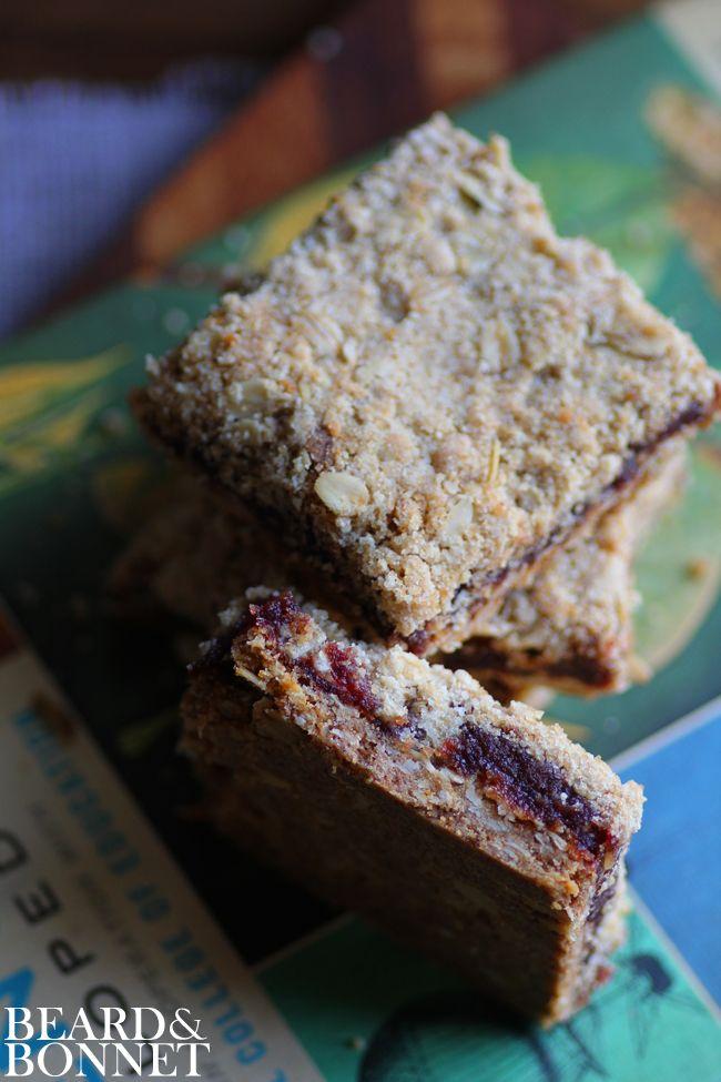 Beard + Bonnet   Crumble Date Bars (Gluten-Free and Vegan)