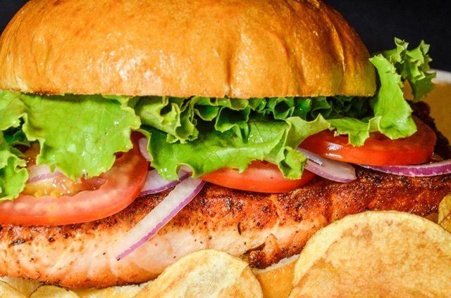 Blackened Salmon Sandwich | Monthly Specials Photos | Pinterest