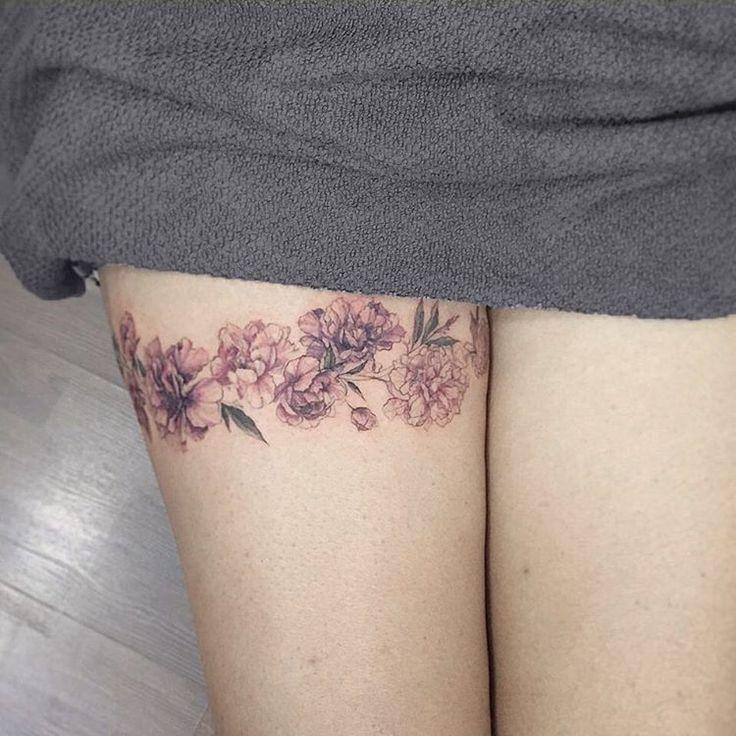 Upper thigh tattoos pinterest