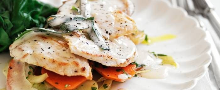 Creamy Tarragon Chicken with Wilted Spinach - subbed the fennel for ...