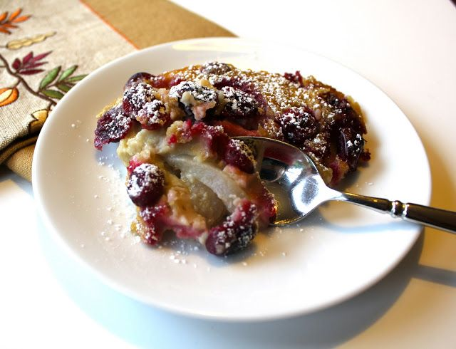... Fall Pear and Cranberry Clafouti | Clafoutis/Flaugnarde Recip