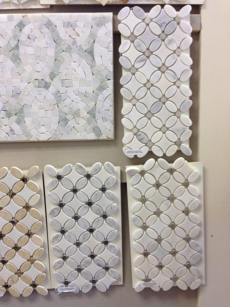 Sunflower bathroom decor - Marble Florida Flower Saltillo Tile Bathroom Reno Pinterest