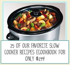 We have released our first eCookbook: Six Sisters' Stuff 25 Favorite Slow Cooker Meals for only $1.99! #cookbook #slowcooker