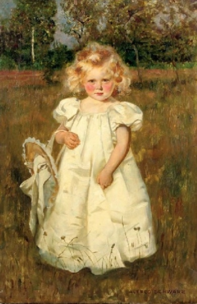 A Pretty White Dress - Alfred Schwarz, artist